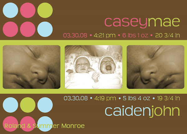 Casey & Caiden Twins Baby Announcement