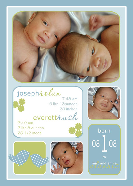 Joseph &amp; Everett Twins Baby Announcement