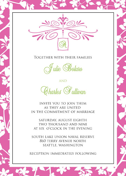 French Country Wedding Invitation This invitation is colorful and stylish