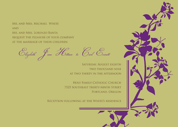 Vine Bliss Wedding Invitation