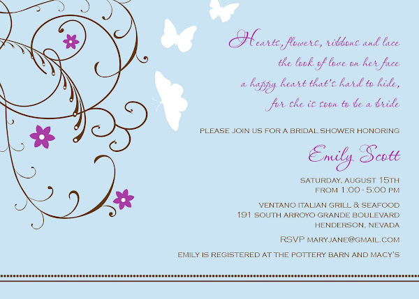 Happy Heart Bridal Shower Invitation