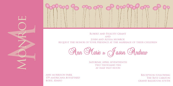 Enchantment Wedding Invitation
