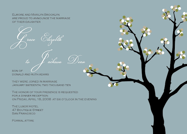 The Mink Wedding Invitation