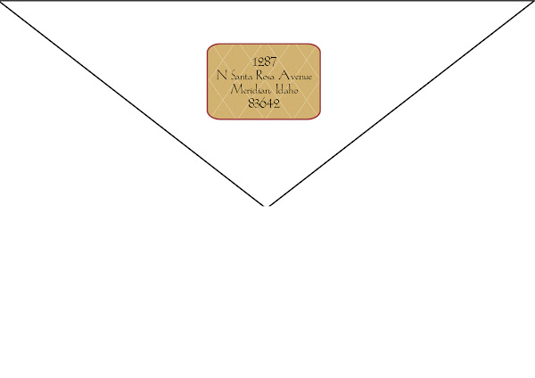 Rich Waverly Botanical Return Address Design