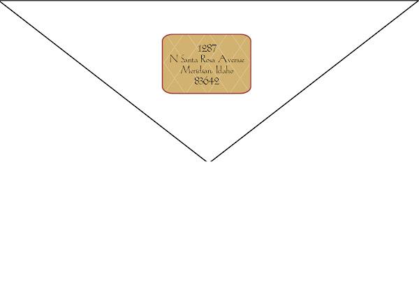 Rich Waverly Botanical Return Address Design