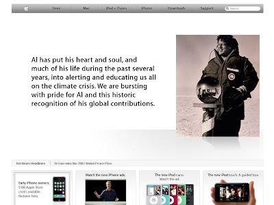Apple brown noses Al Gore