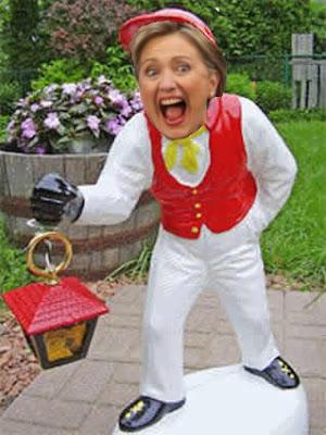 Obamas Hillary lawn jockey
