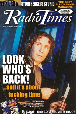 Paul McGann Doctor Who Radio Times cover May 1996