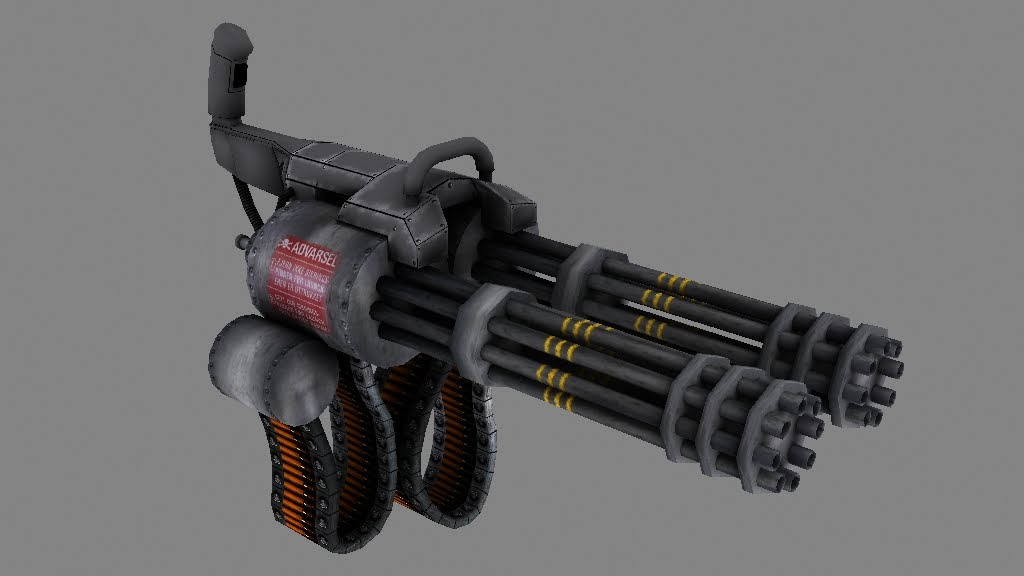 STEVEN CHABEAUX: Start of the Mini Gun Texture