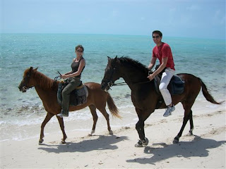 Jocelyn Kirsch and Edward Anderton horseback riding