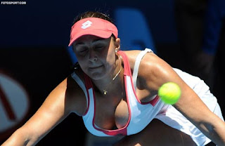 tennis player Tamira Paszek has huge boobs