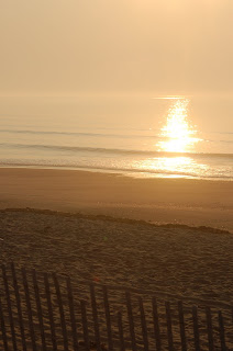 the sun rises on Old Orchard Beach