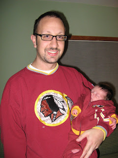 teaching the next generation the lyrics to Hail To The Redskins