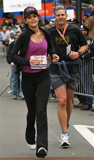 Katie Holmes runs the New York City Marathon