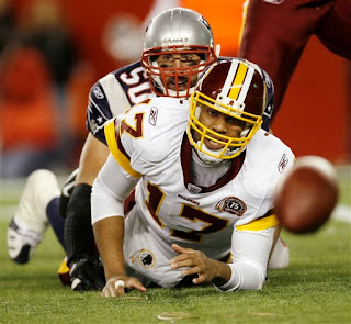 Mike Vrabel sacks Jason Campbell for one of his 3 sacks and 3 forced fumbles