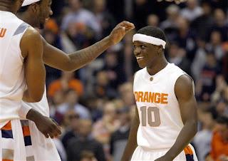 Diaper Dandy Jonny Flynn scores one basket, one HUGE basket in Syracuse's win over St. Joseph's