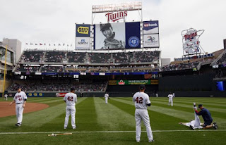 Jackie Robinson Day at the Twins new stadium, Target Field