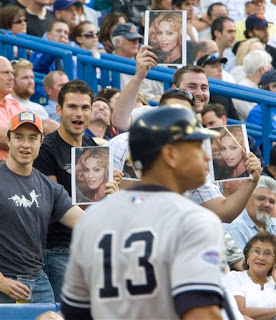 Blue Jays fans heckle A-Rod with pictures of Madonna