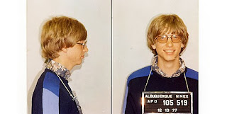 Bill Gates's mugshot