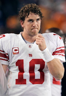 Bad sign for Giants fans, the return of the Eli Manning Face