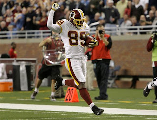 Santana Moss scored a return TD and a receiving TD against the Lions