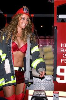 Mariah Carey is one hot fireman