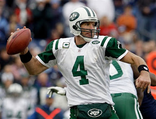 Brett Favre leads the Jets to a victory over the previously unbeaten Titans