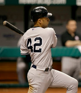 Derek Jeter wears number 42, Yankee fans wonder why Mariano Rivera is playing shortstop