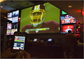 using a PocketCasino to bet on Jason Campbell taking a sack