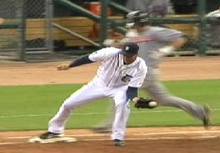 Armando Galarraga clearly had the ball and was on the base before the runner