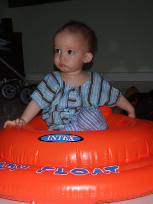 Timmy on his swimming baby floater