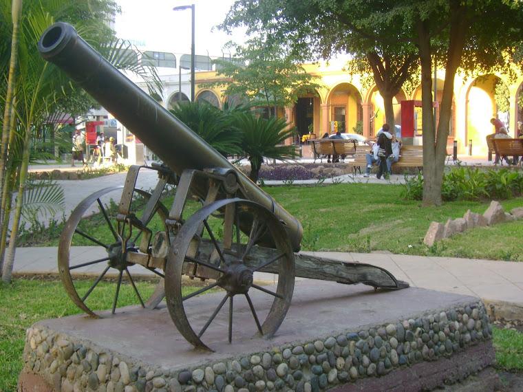 Uno de los Cañones con los que Antonio Rosales detuvo a los franceses en la Batalla de San Pedro