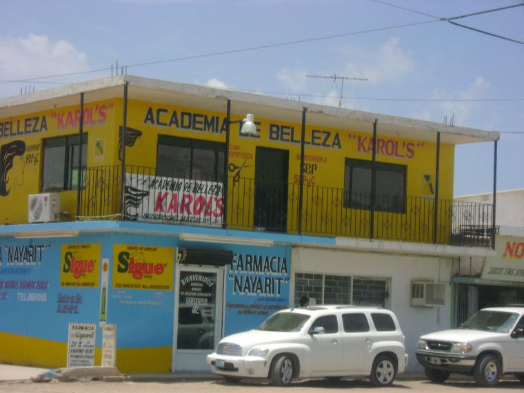 Negocios del centro del pueblo de El Carrizo