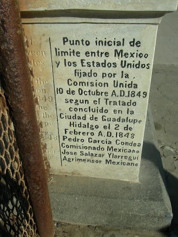 Aqui empieza o termina México en Tijuana Baja California