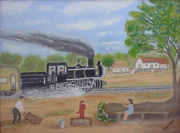 La estación del ferrocarril en Eldorado