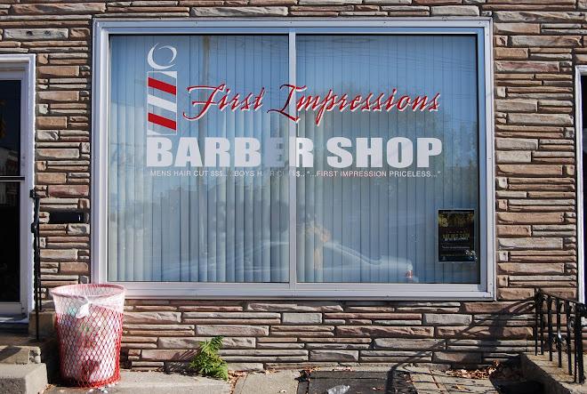 first impressions barber shop. Black Bedroom Furniture Sets. Home Design Ideas