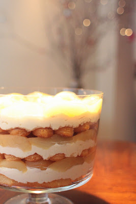 ... the High Chair: White Chocolate Tiramisu Trifle with Spiced Pears