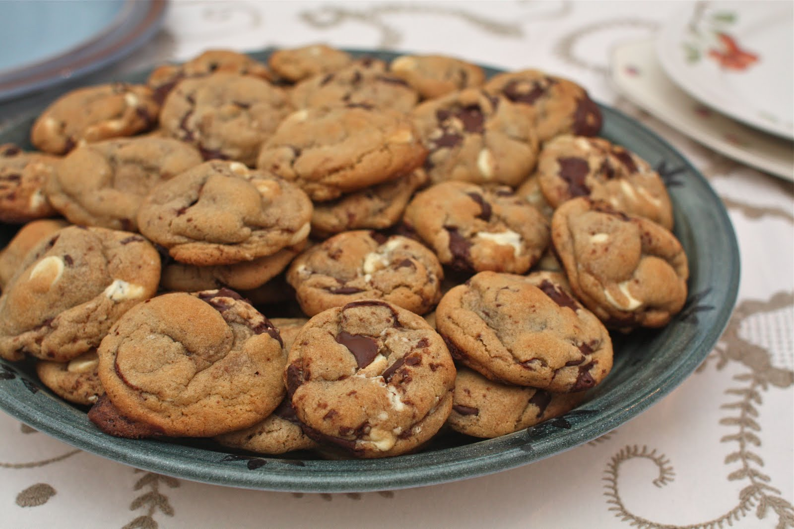 Under the High Chair: Browned Butter Triple Chocolate Chunk Cookies