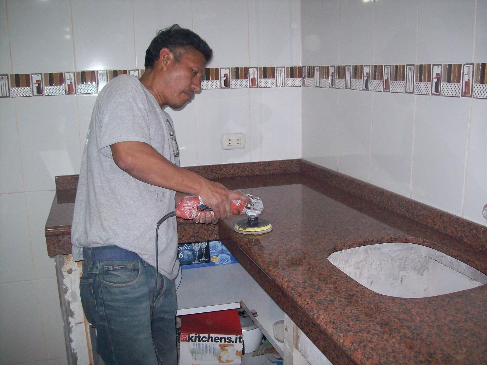 Marmol y granito en lima peru encimeras topes mesas islas for Cocinas de granito precio