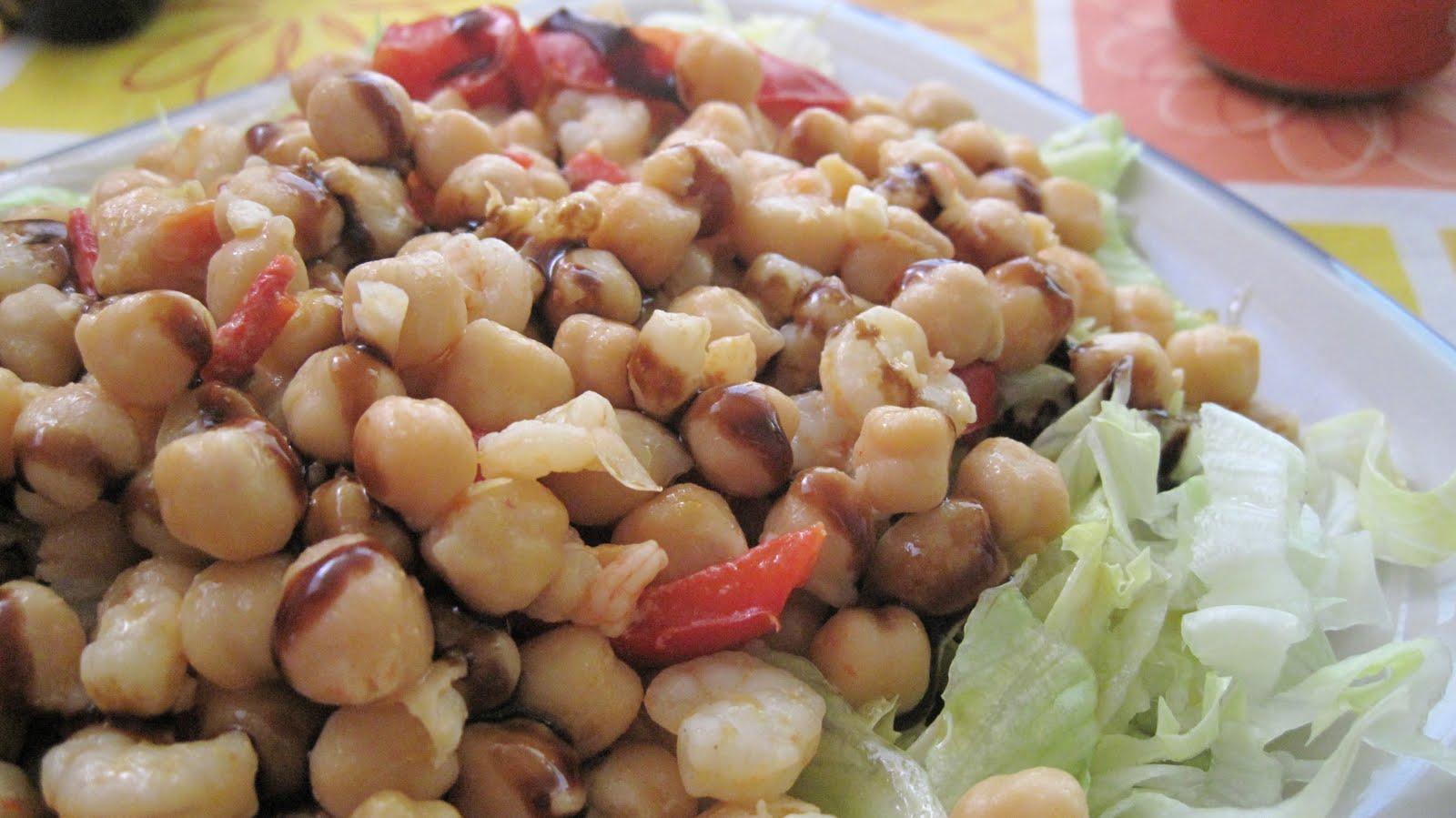Mis recetas de cocina ensalada de garbanzos templada - Ensalada de garbanzos light ...