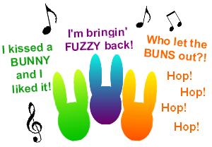 bunny rabbit church song music lyrics