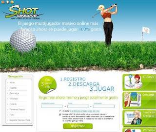 Shot online, un juego multijugador de golf gratis