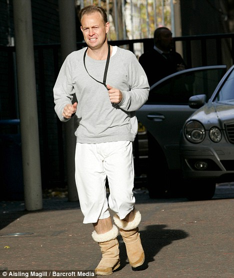 man wearing uggs