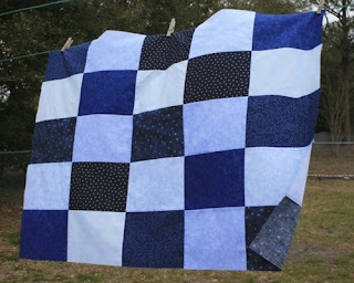 Too windy for the quilt to hold still today