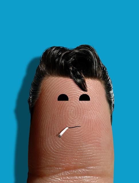 Elvis Presley par Dito Von Tease - doigts peints