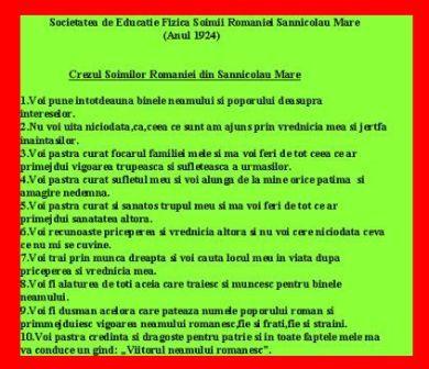 Crezul Soimilor Romaniei - Sannicolau Mare