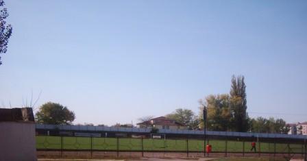 In incinta stadionului Unirea