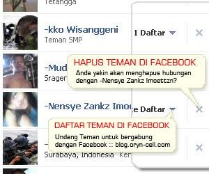 CARA HAPUS TEMAN DI FB FACEBOOK