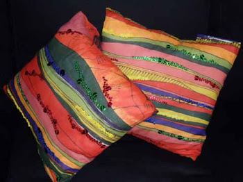 African Wave cushions made by me.