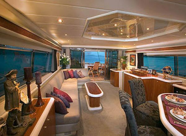 "Cabin in the luxury yacht ... ""in our new global world ..."